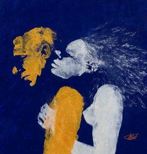 The Kiss #5 Acrylic on canvas / 61 x 61 cm