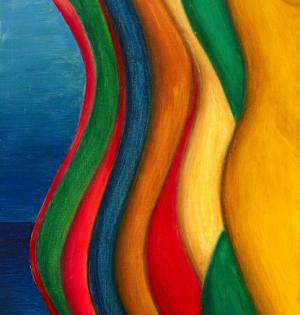 Vagues De rêve #1 Oil on canvas / 38 x 46 cm